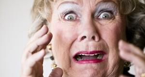 horrified senior mother