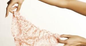 Close-up shot of an elegant woman's panties