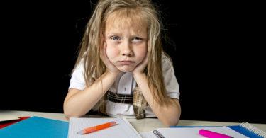 little girl grumpy