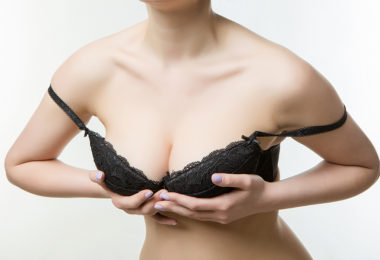 woman wearing bra