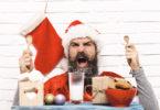 Angry christmas man