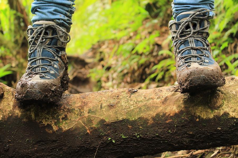Shoes muddy from bullshit
